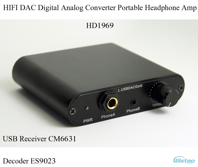 IWISTAO HIFI DAC Digital Analog Converter Portable USB Receiver CM6631 Decoder ES9023 Headphone Amp HD1969 16-24bit/44.1K-192K rtl2832u r820t usb isdb t digital television receiver black white