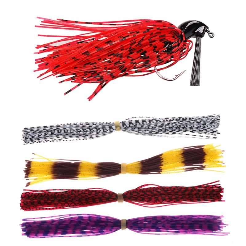 Set Of 50 Strands Fishing Skirts Fish Lure Bait Spinner Silicone DIY Accessories