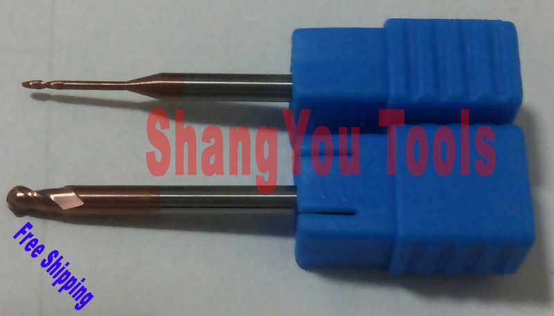1 bag (26pcs)  DHL Free shipping Ball nose End Mills hrc60 CNCEndmills solid carbide milling tools cutters