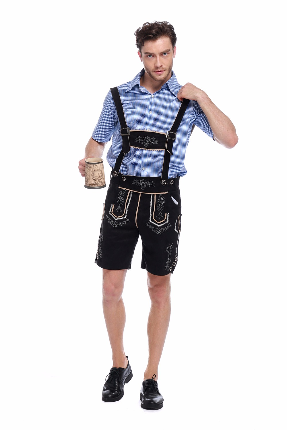 Adult Male Germany Beer Maid Oktoberfest Costumes Bavarian Festival Themed Party Halloween Fancy Dress Up Outfit Suit For Man XL