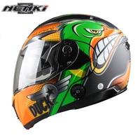NENKI Motorcycle Helmet Full Face Street Moto Helmet Touring Motorbike Racing Flip Up Helmet With Dual