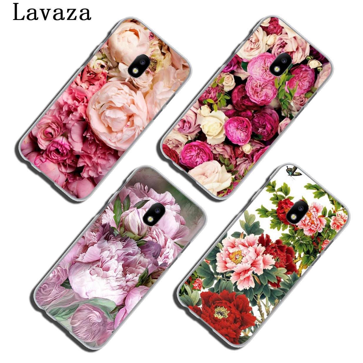 Lavaza Peony Sunflowe Rose Daisy Plum Plants Flower Phone Case for Samsung Galaxy A3 A5 J3 J5 J7 2015 2016 2017 Grand Prime A5