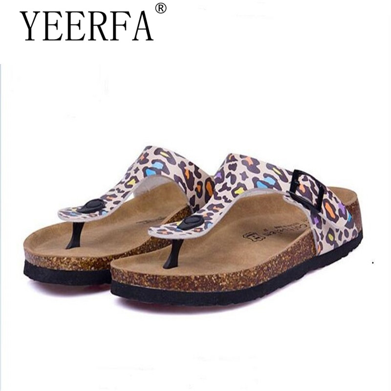 YIERFA Fashion Women Slippers Flip Flops Summer Beach Cork Shoes Slides Girls Flats Sandals Casual Shoes Mixed Colors Size 35-45 casual bow slides women summer beach shoes woman leather slippers flat flip flops ladies sandals