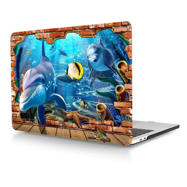 """3D Подводный Мир Ноутбук Тела Shell Защитный Футляр для 2016 Новый Mac Pro 13 """"A1708 Retina 15"""" A1707 w/без Сенсорной Панели"""
