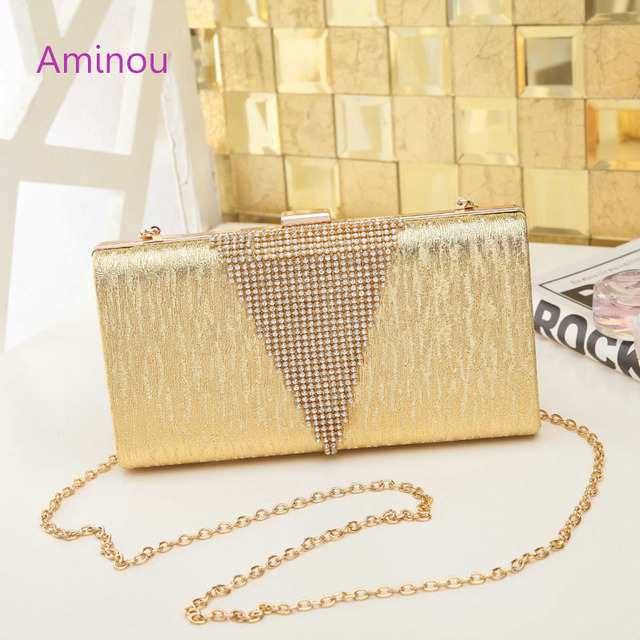 Aminou Wedding Evening Bags Women Party Day Clutch Shoulder Bag Fashion Diamonds Beading Messenger Minaudere Hand
