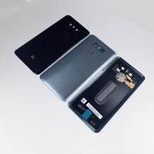 Original Para LG G6 LS993 US997 VS998 H870 H871 H872 H873 Habitação Voltar Vidro Tampa Da Bateria Da Câmera + Lente de vidro ID de toque + Adesivo