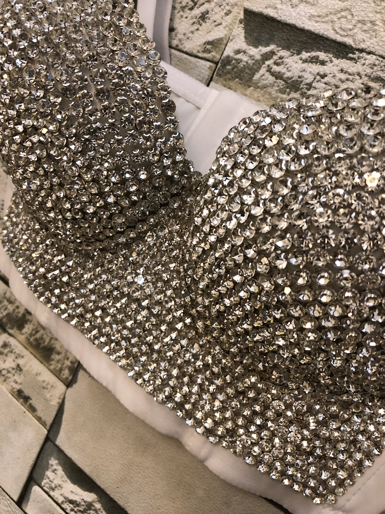 Image 4 - New Korean Diamond Sexy Short Crop Tops Lady Sleeveless Night Club Party Wedding Bustier Bra Cropped Top Vest Plus Size C662-in Bustiers & Corsets from Underwear & Sleepwears