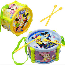 Baby cartoon plastic drum for music instrumental toys,/ Kids Child rattle early learning educational toys, free shipping