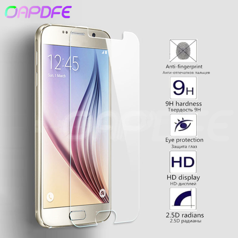 Tempered Glass For Samsung Galaxy J3 J5 J7 A3 A5 A7 A8 2015 2016 2017 J2 J4 J6 J8 A8 Plus 2018 Screen Protector Protective Film image