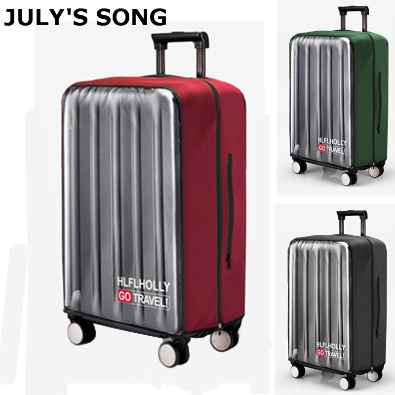 JULY'S SONG Waterproof Protective Cover Transparent PVC Trolley Suitcase Cover DustProof Luggage Cover For 20-30'' Luggage Case