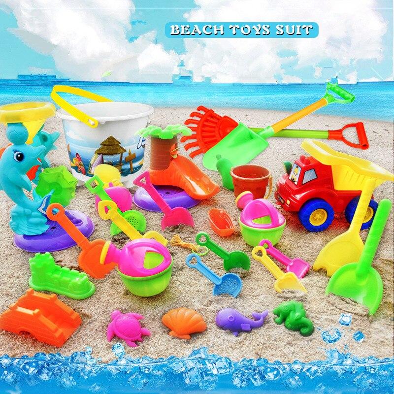 14pcs/Set Summer Beach Sand Play Toys Sand Water Toys Kids Seaside Bucket Shovel Rake Kit Play Toy Children Dredging Tools Hot