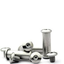 5MM/6MM Round Head T8 Plum Handle Screwdriver Lock Stainless Steel Screws DIY Folding Knife Screw 2PCS