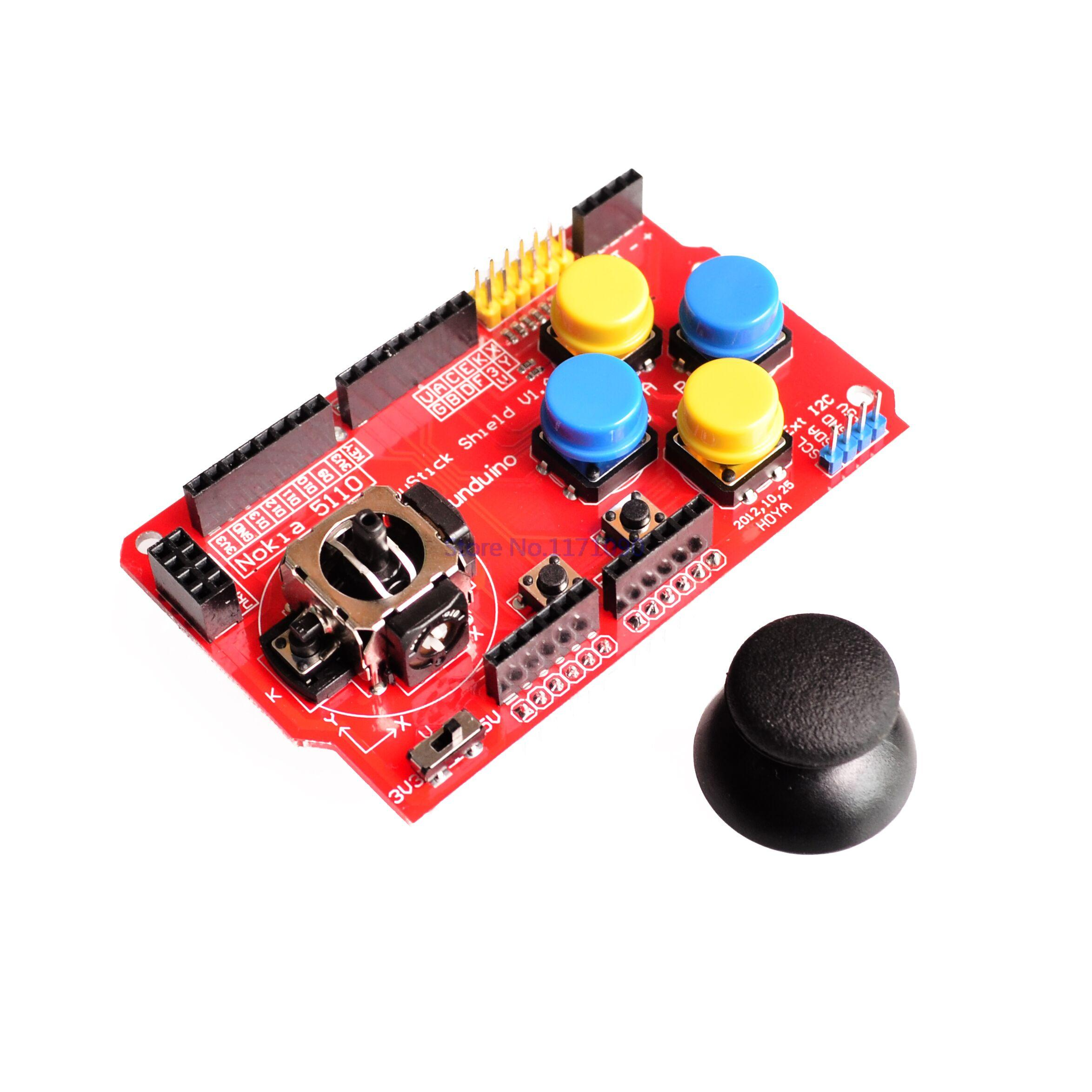 Active Components 5pcs/lot Gamepads Joystick Keypad Shield Ps2 For Arduino Nrf24l01 Nk 5110 Lcd I2c Firm In Structure