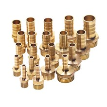 Brass Male Barb Hose Tail Fitting Fuel Air Gas Water Oil 4m-12m 1/8 1/4 1/2