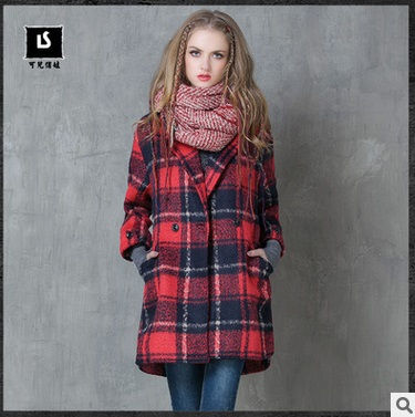 In The Winter Of 2016 New Product, The Original Design Of Loose Big Size Women's Wool Coat