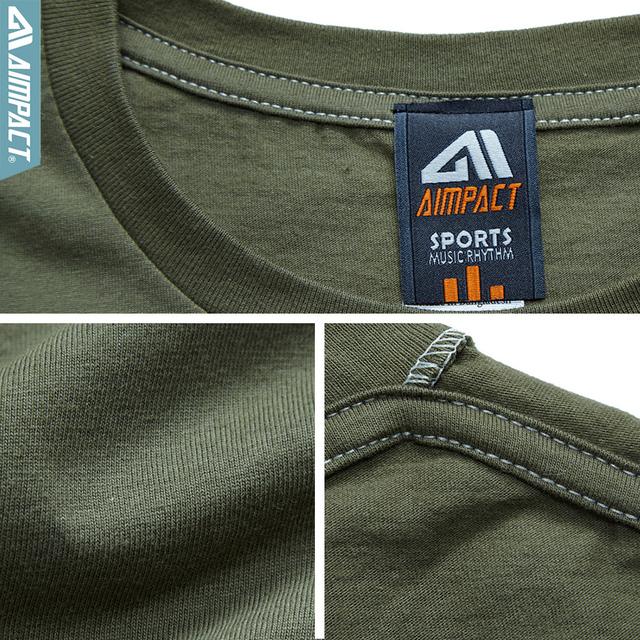 Aimpact Men's Cotton Gradient T-shirt Fitness T Shirt Men 2017 Brand Clothing Hip Hop Tie Dye Tshirt Homme Crew Neck Tee Jerseys