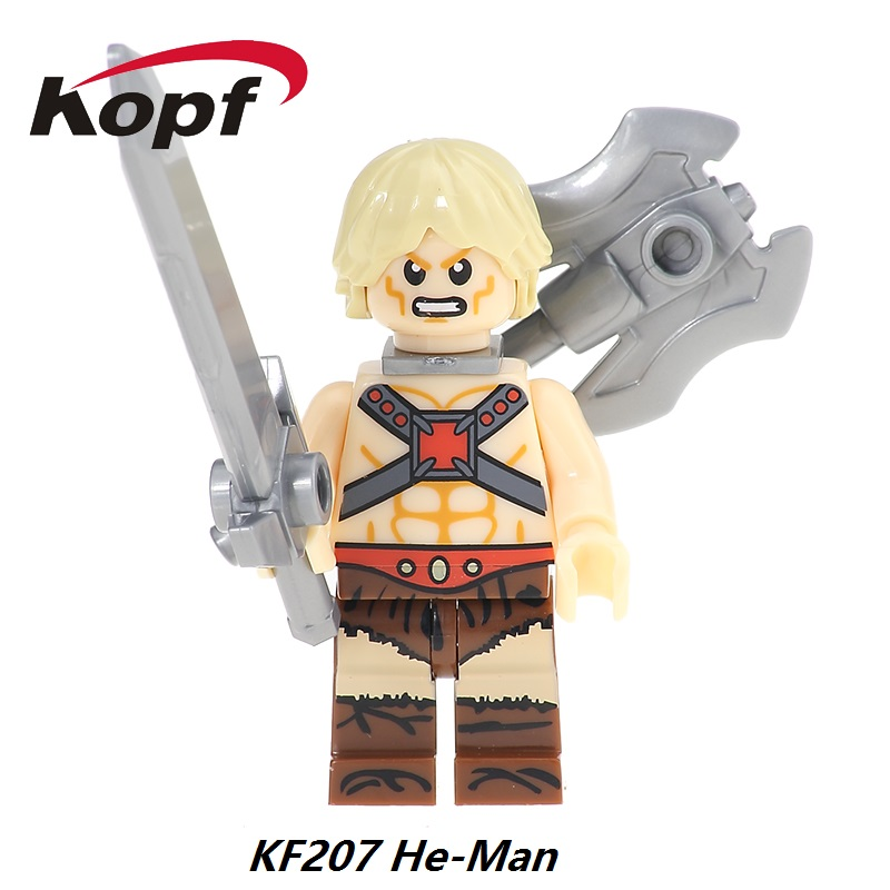 Super Heroes He-Man Heman He Man Skeletor Rare Motu Master of the Universe Vintage Faker Building Blocks Kids Gift Toys KF207 moc the iron man work station hall of armor war machine super heroes avengers building blocks kids toys not include minifig