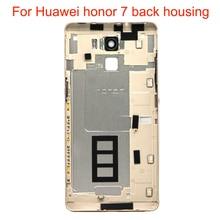 JPFix задний корпус чехол для Huawei Honor 7 PLK-TL01H AL10 с боковой кнопочная панель Стекло с отпечатком пальца