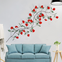 Xuanxiaotong 200cm Red Magnolia Artificial Flower Vine for Wedding Climbing Decor Home Garden Background Wall Hanging Decoration
