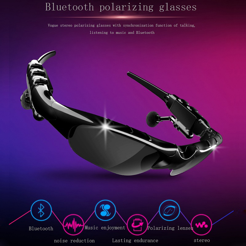 Bluetooth Earphone Earbuds Headset wireless headphone Sunglasses With Mic handsfree For iphone huawei xiaomi Bluetooth Headset