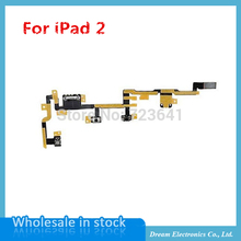 MXHOBIC 5pcs/lot NEW Power on/off switch button volume control power flex cable for ipad 2 2nd gen Free Shipping