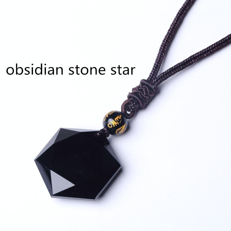 HTB1N8qmjgDD8KJjy0Fdq6AjvXXaN QIANXU Black Obsidian Six Awn Star Pendant Necklace Obsidian Star Jewelry Obsidian Jade Jewelry Fine Jewelry