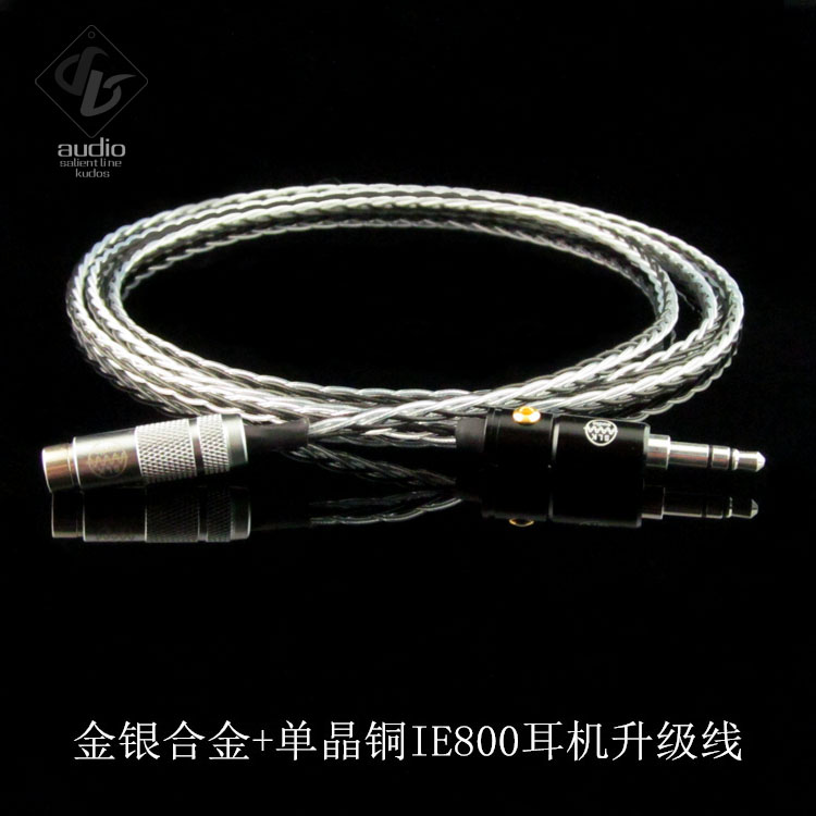 SLK Audio Gold-Silver Alloy+OCC Mix Headphone Upgrade Cable for Sennheiser IE800 hd650 hd600 hd580 hd525 headphone upgrade cable occ silver plated