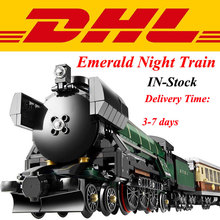 In Stock Modular LEPIN 21005 1085Pcs Technic Series Emerald Night Train Model Building Kits Minifigures Block