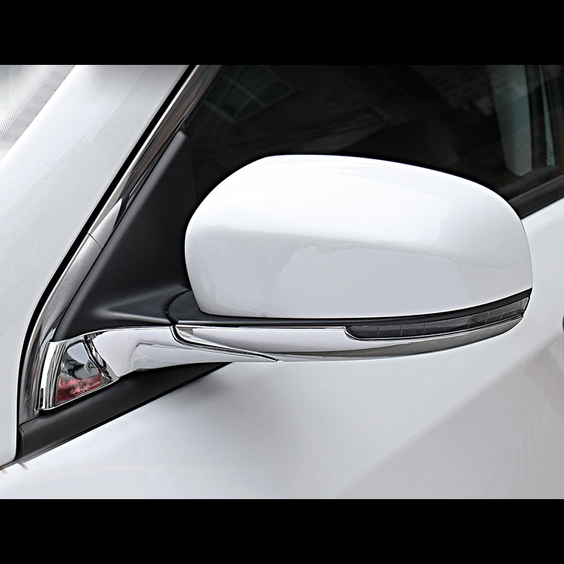 2x Car Chrome Rearview Side Mirror Cover Trim Strip For Mazda CX-5 CX5 2017-2018