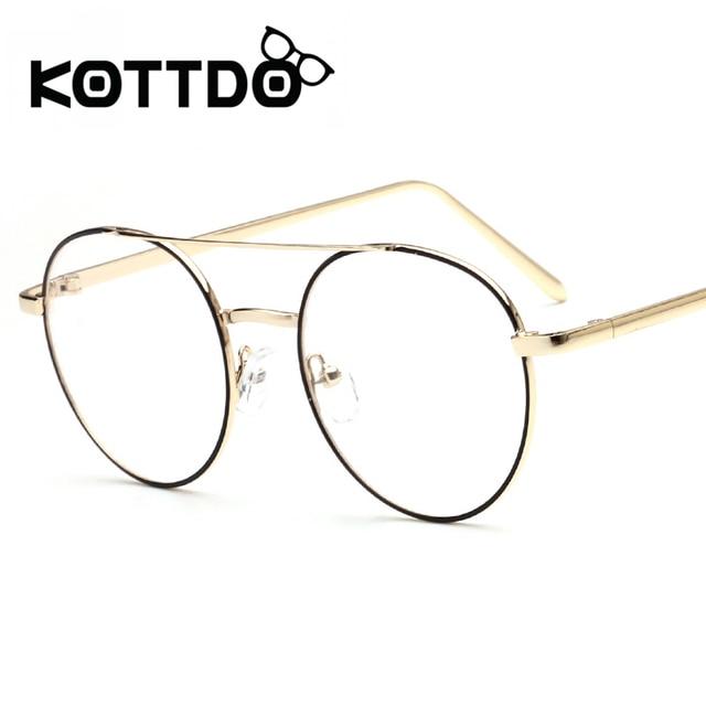 14f85df27ec KOTTDO 2017 Metal Round Eyeglasses Frames Women Men Designer Optical  Reading Glasses Frame Clear Lens Eye Glasses Retro Eyewear