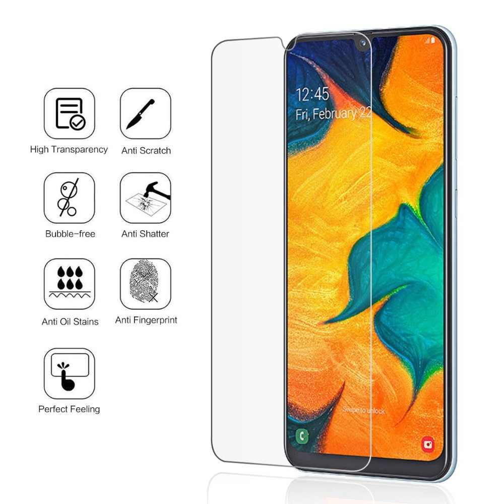 Tempered Glass For Samsung A30 A50 A70 A80 A90 A 10 40 60 Screen Protector 9H Phone Protective Glass For Galaxy M30 M10 M20 S10E