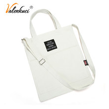 Bags for Women 2018 Totes Women's Handbag Shoulder Bag Casual Solid Color Canvas Shopping Bag Female Student Girls Crossbody Bag(China)
