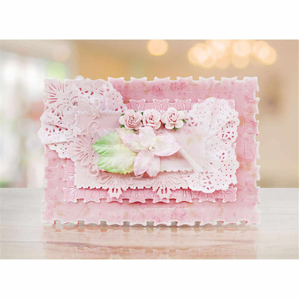 2018 New Picture Frame DIY Metal Cutting Dies Stencils Scrapbooking Embossing For Card Gift DIY Craft Photo Album Decor Dies Cut