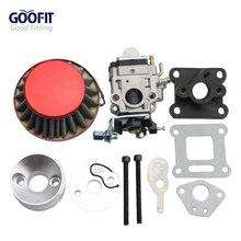 GOOFIT 15mm Racing Carburetor Kit Carb Air Filter Stack 49cc Mini ATV Dirt Pocket Bike Group-77