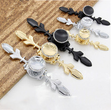 Crystal Pulls Handle Silver Drawer Knobs Glass Dresser Kitchen Cabinet Handles Blingbling Hardware