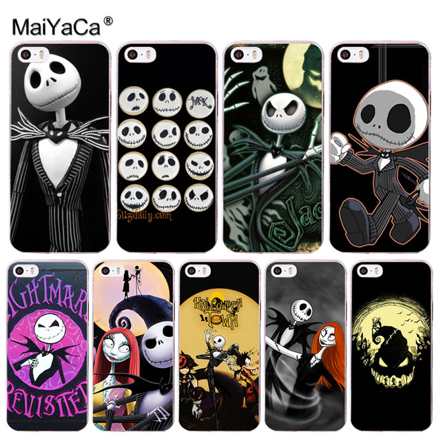 info for fc810 ebf3c US $1.03 48% OFF|MaiYaCa Jack Skellington Funny Halloween expression  Transparent Cover Case for iPhone X 8 7 6 6S Plus 5 5S SE XS XR XSMAX-in ...