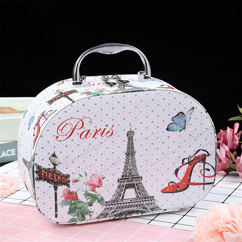 3pcs set Women Makeup Tote Bag Eiffel tower PU Leather Cosmetic Bags Portable Travel Beautician Toiletry Storage Box in Cosmetic Bags Cases from Luggage Bags