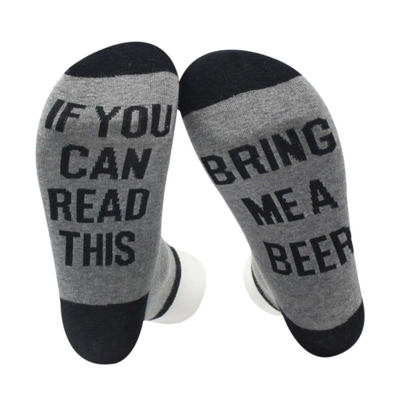 5 Colors Women Men Wine Socks Letter Printed IF YOU CAN READ THIS Compression Sock Stylish Unisex Funny Socks Couple Meias