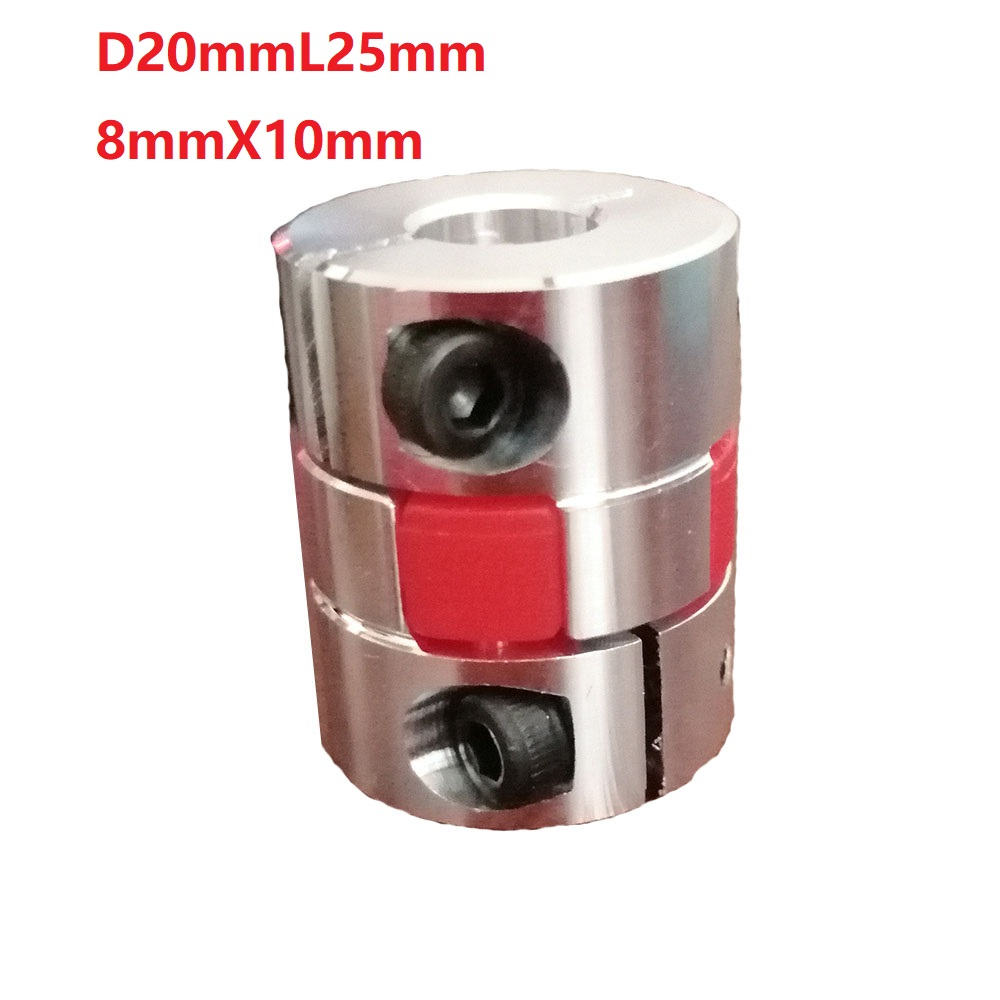 1pcs 8X10 D20L25 Aluminium Shaft Plum blossom Coupling Motor Connector Flexible shaft Coupling shaft coupling machine coupling aluminium coupling cnc motor coupling