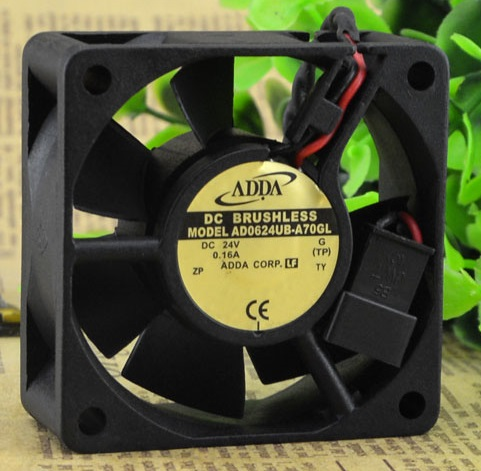 SSEA New cooling <font><b>fan</b></font> for ADDA AD0624UB-A70GL DC24V 0.16A 6CM 6025 60 * 60 * <font><b>25</b></font> <font><b>mm</b></font> Inverter <font><b>FAN</b></font> image