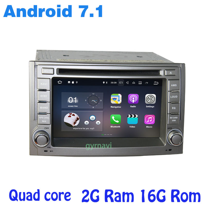 Android 7 1 Quad core font b Car b font dvd gps player for hyundai H1