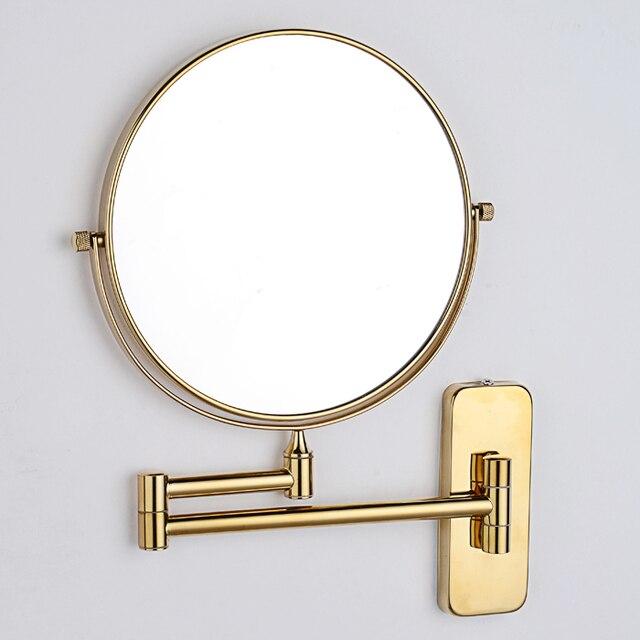 Golden Mirror Bathroom Mirror Polished Copper Sided Bath Mirror