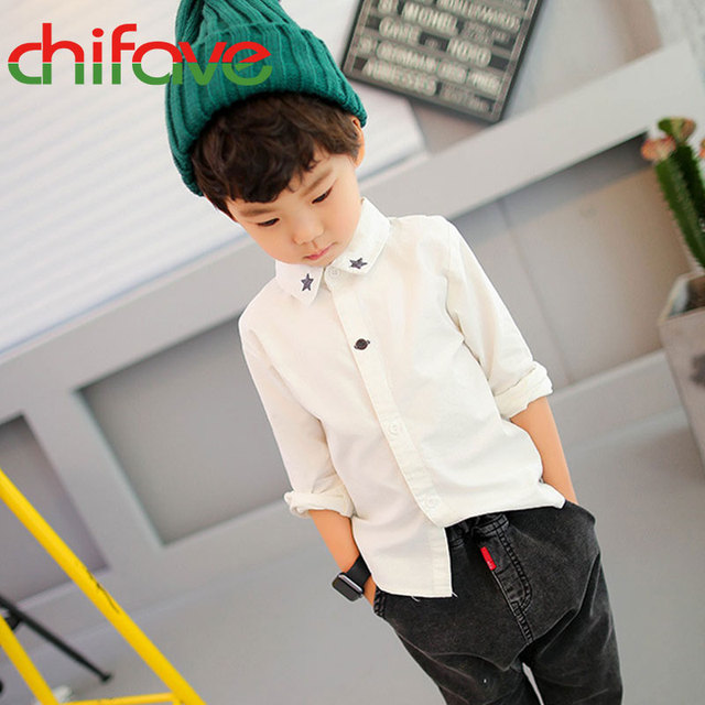 Unisex Crianças Camisa Formal Algodão Quente Libélula Padrão Do Bebê Das Meninas Dos Meninos de Manga Comprida Blusa Cor Sólida 3-7 Idades crianças Roupas