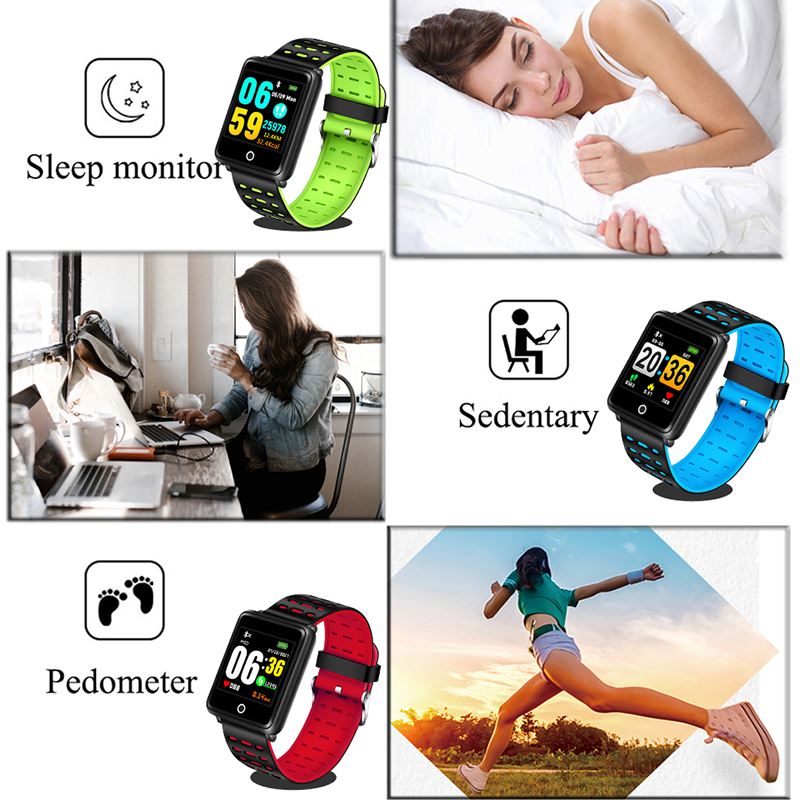 Купить с кэшбэком Smart WristBand Fitness Heart Rate Monitor Blood Pressure Pedometer Health Running Sports Smart Watch Men Women For IOS Android