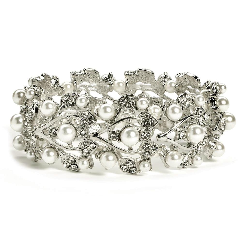 Vintage Style Rhodium Silver Plated Clear Rhinestone Crystal Diamante - Նորաձև զարդեր - Լուսանկար 2