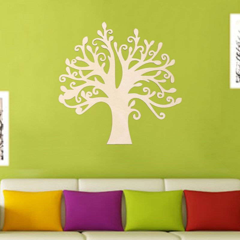 30x28.5cm Wooden Tree Shape Decoration DIY Wood Tree Decor For ...