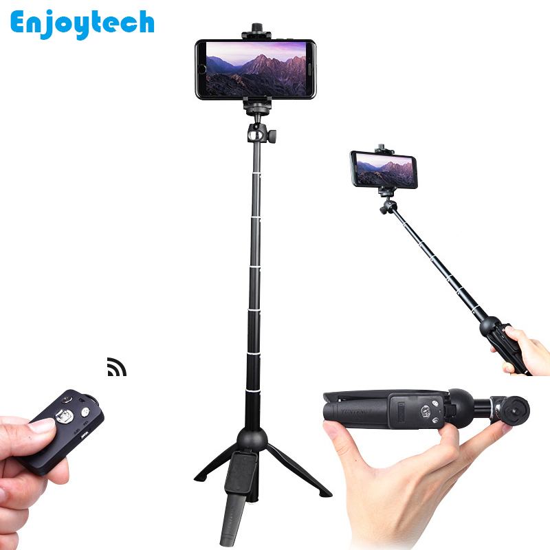 New 3 In 1 Mini Bluetooth Selfie Stick With Remote For Iphone Xiaomi Samsung Huawei Android Phones Monopod With Tripod For Gopro mini bluetooth selfie stick with led fill light tripod for smartphone extendable monopod for iphone 8 xiaomi samsung android