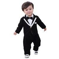 JXYSY Newborn baby clothes baby onesie Spring&Autumn cotton Gentleman baby boy jacket jumpsuit Children's birthday party dress