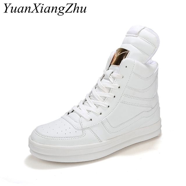 Winter Boots Men Waterproof Leather Boots Men High Top Shoes 2018 White Winter Footwear Lace-Up Casual Shoes Man Plus Size 45