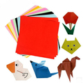 BOHS Children 10colours Handmade  Multicolour Paper  Diy Kirigami  Paper Cutting Arts,100 pcs=10 colours * 10 pieces